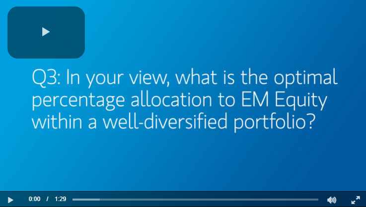 Q3: In your view, what is the optimal percentage allocation to EM Equity within a well-diversified portfolio?