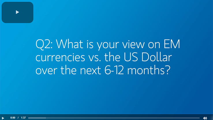 Q2: What is your view on EM currencies vs. the US Dollar over the next 6-12 months?