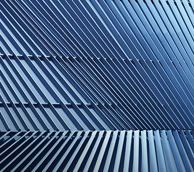 blue-gray metal slats