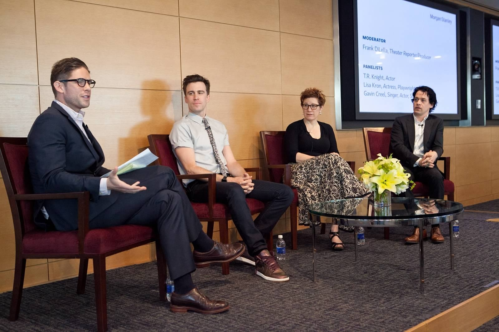 Frank DiLella, Gavin Creel, Lisa Kron and T.R. Knight, Morgan Stanley Wealth Management